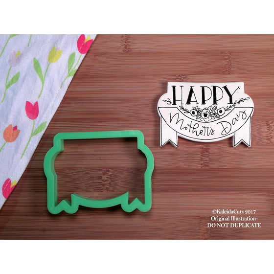 Banner Plaque Cookie Cutter