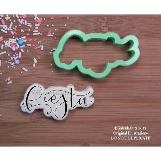 Fiesta Lettering Cookie Cutter