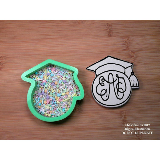 Grad Monogram Cookie Cutter