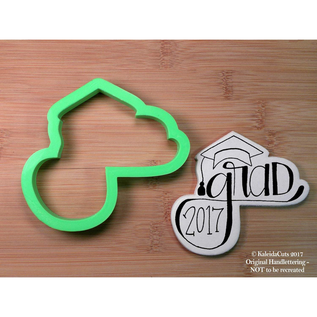 Grad Handlettering Cookie Cutter