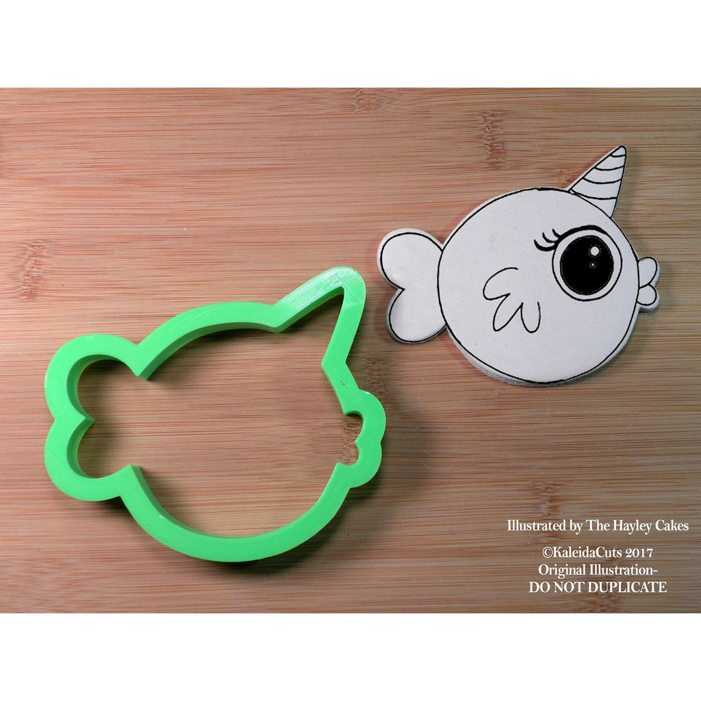 Chubby Narwhal Cookie Cutter
