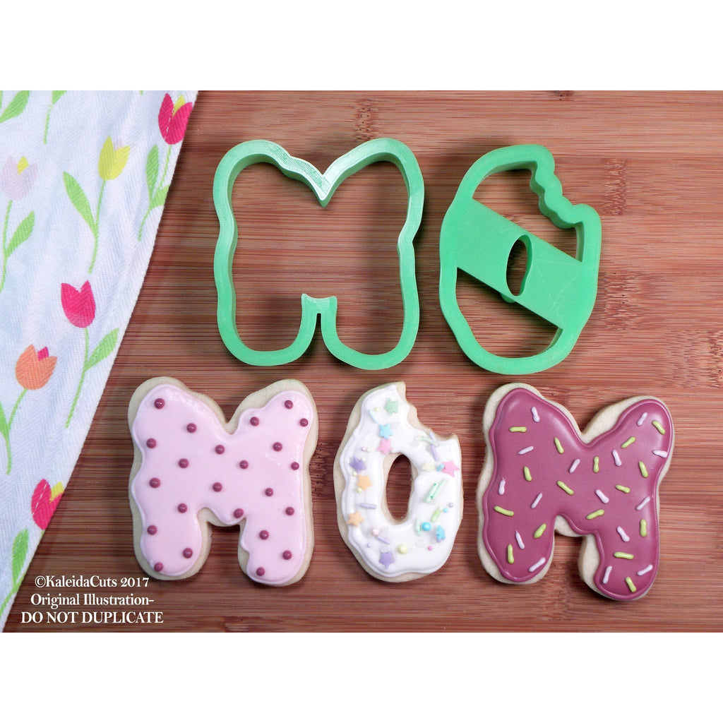 Mom Donuts Cookie Cutter (Set of 2)