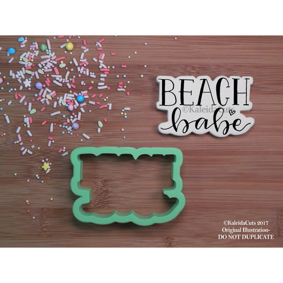 Beach Babe Lettering Cookie Cutter