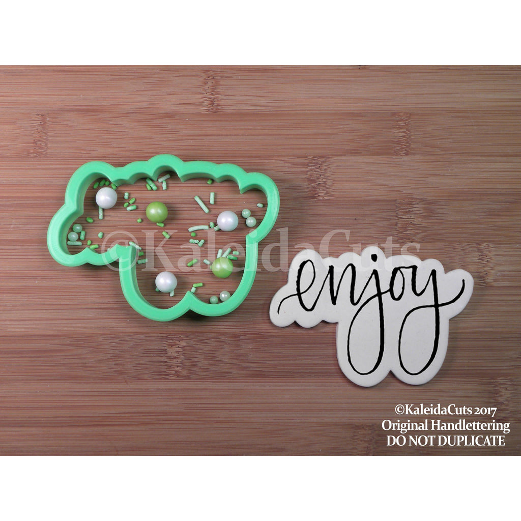 Enjoy Lettering Cookie Cutter