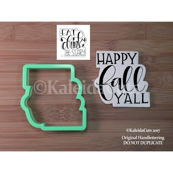 Happy Fall Y'all 2 Cookie Cutter