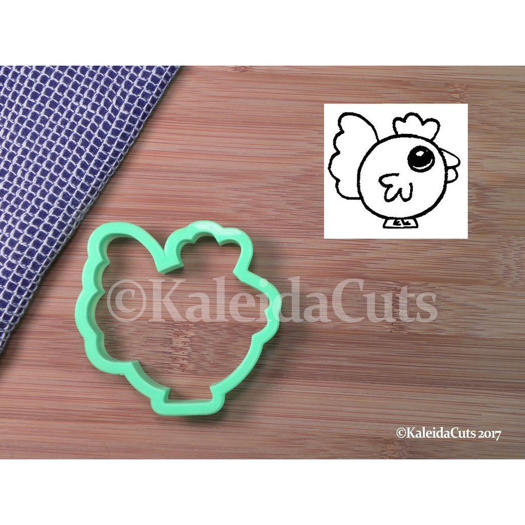 Chubby Rooster Cookie Cutter