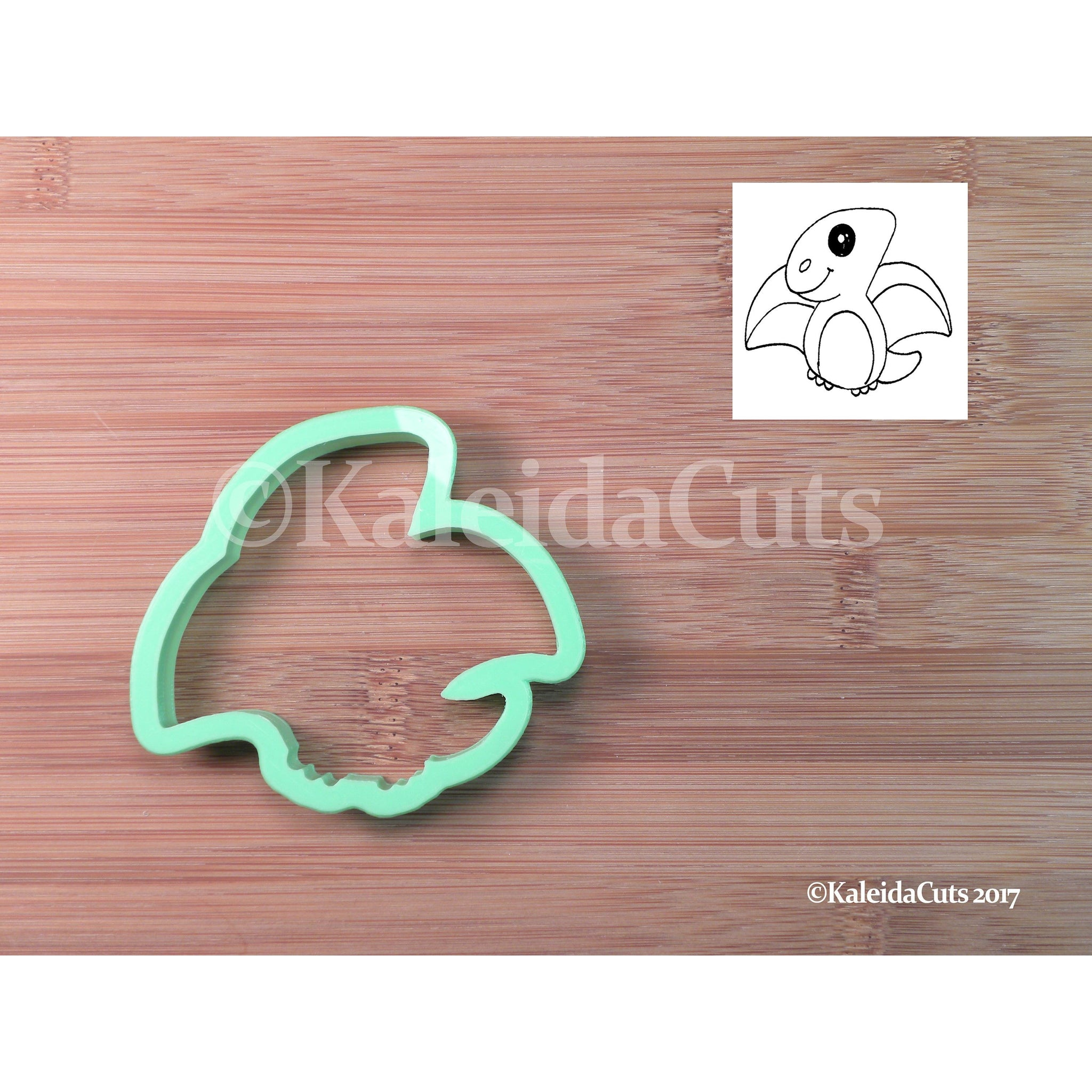 Pterodactyl Cookie Cutter with detail