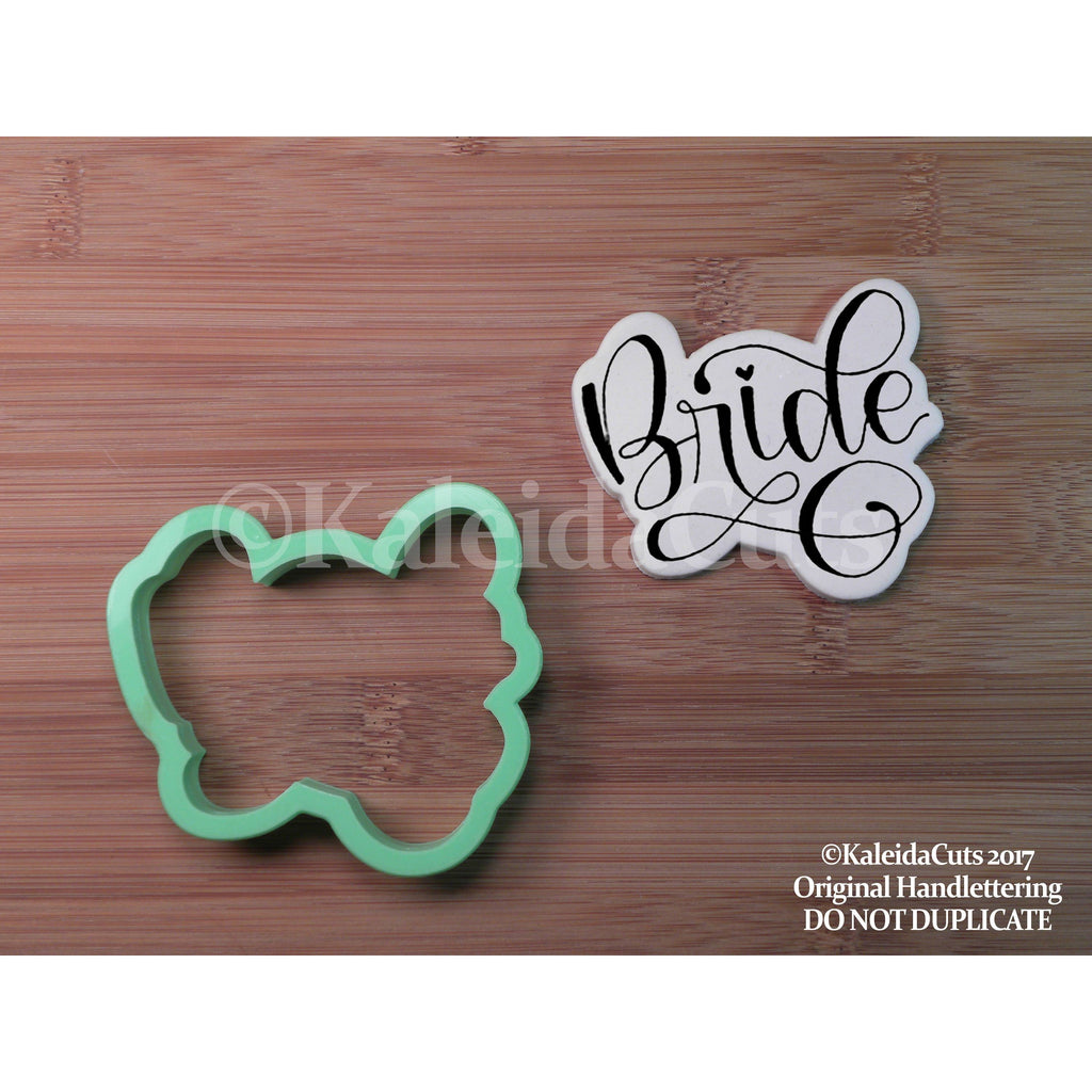 Bride Lettering Cookie Cutter