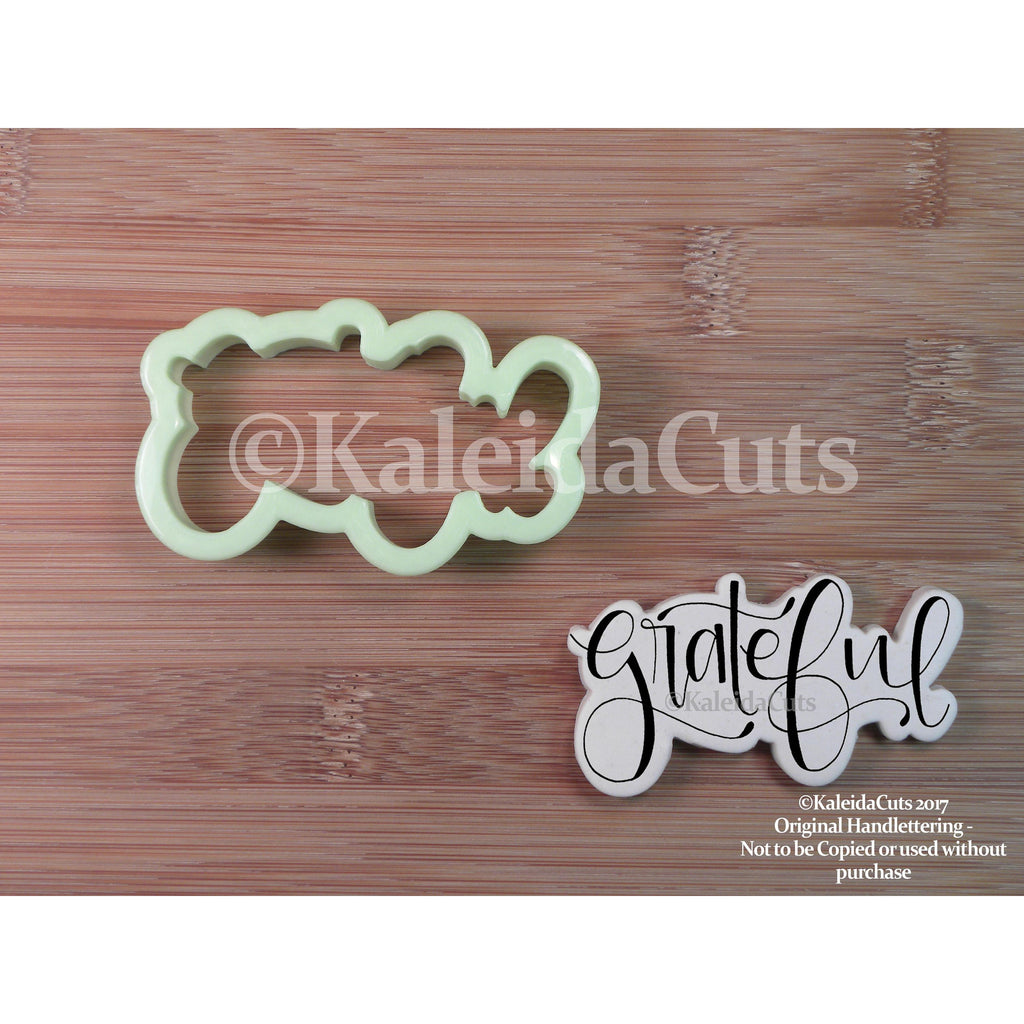 Grateful Lettering Cookie Cutter