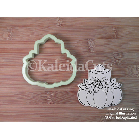 Pumpkin Candle Cookie Cutter