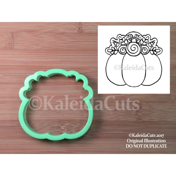 Floral Pumpkin Cookie Cutter