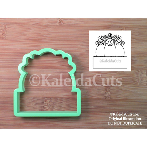 Floral Pumpkin Plaque Cookie Cutter