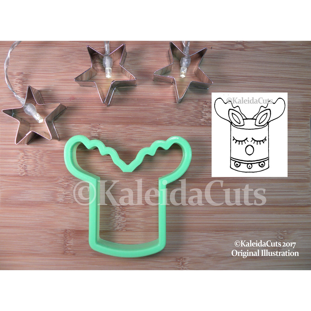 Reindeer Cake Cookie Cutter. Christmas Cookie Cutter. Winter Cookie Cutter. Animal Cookies. Birthday Cookie Cutters. Baking Gifts.