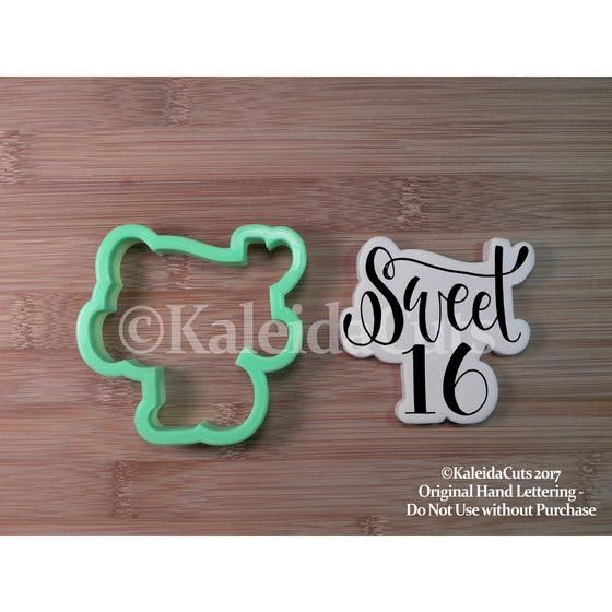 Sweet 16 Cookie Cutter