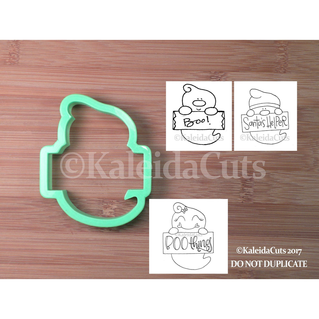 Ghost Plaque Cookie Cutter
