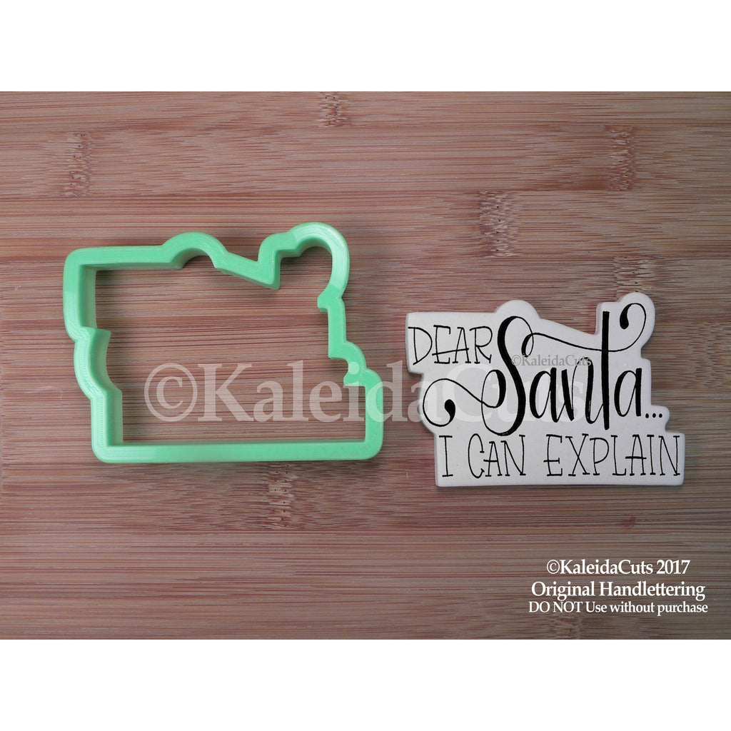 Dear Santa Lettering Cookie Cutter