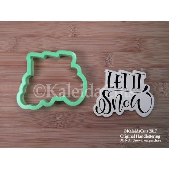 Let it Snow Lettering Cookie Cutter