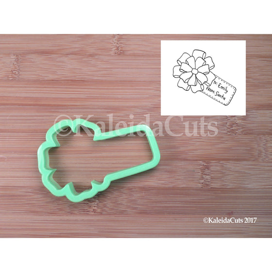 Gift Bow with Tag Cookie Cutter