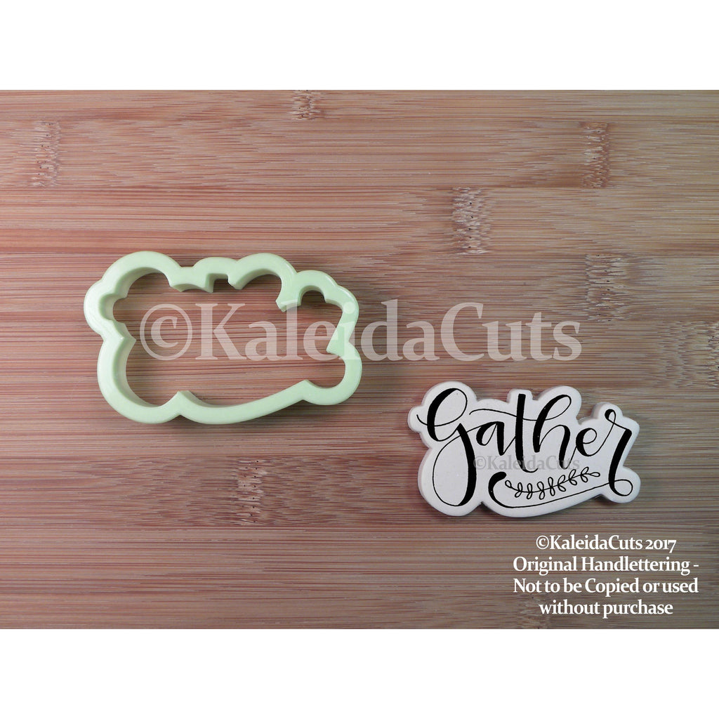 Gather Lettering Cookie Cutter