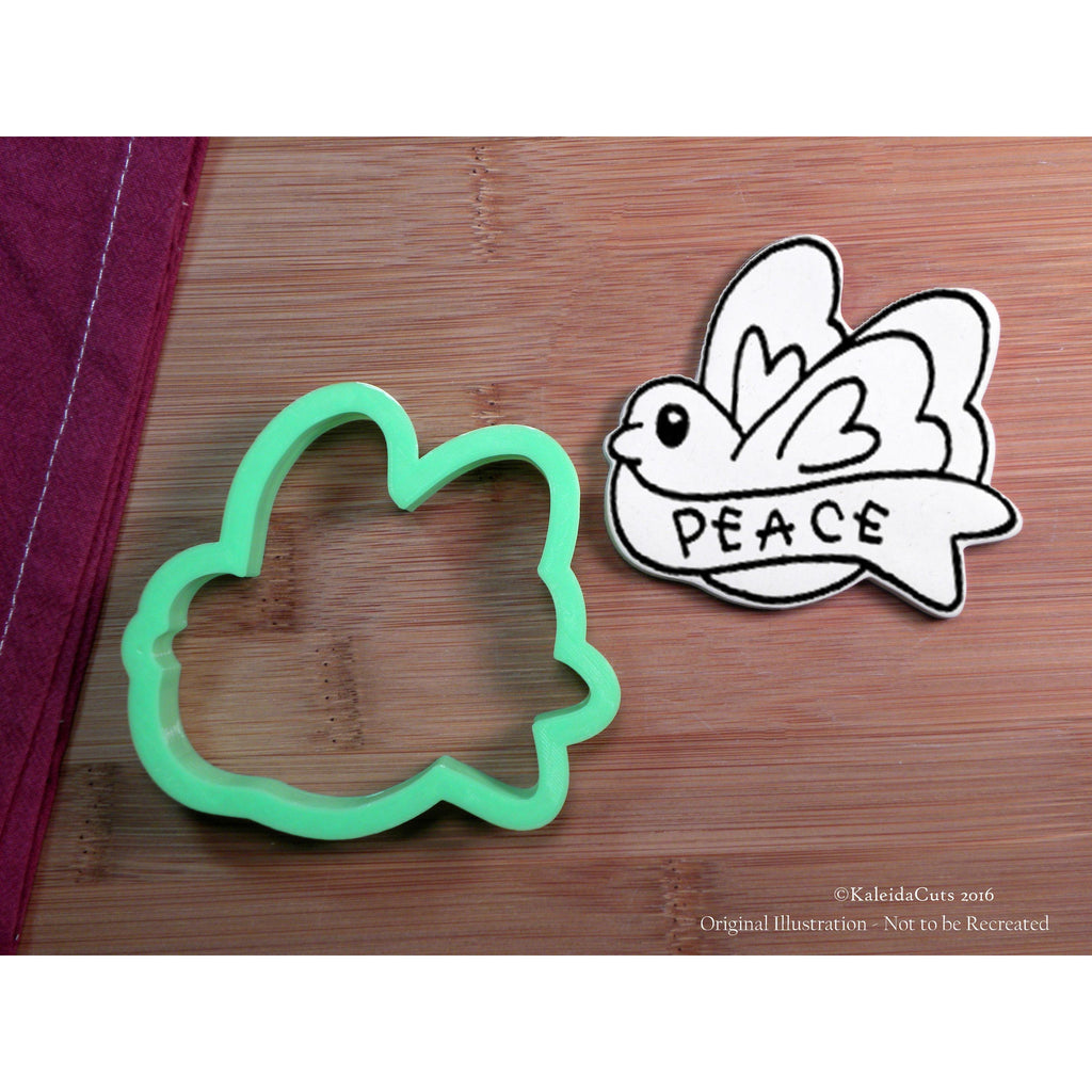 Dove Banner Cookie Cutter