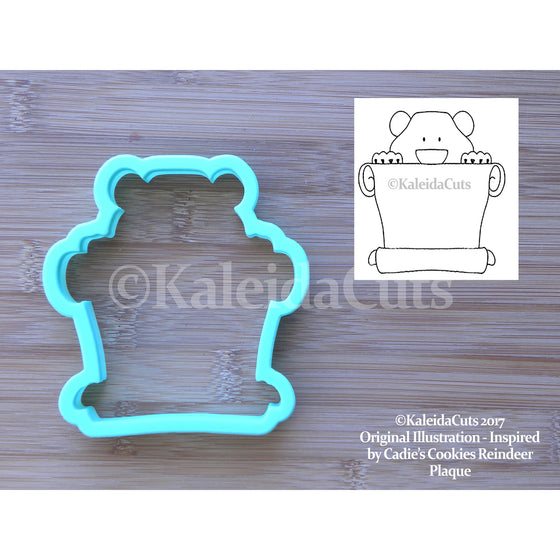 Bear Banner Cookie Cutter