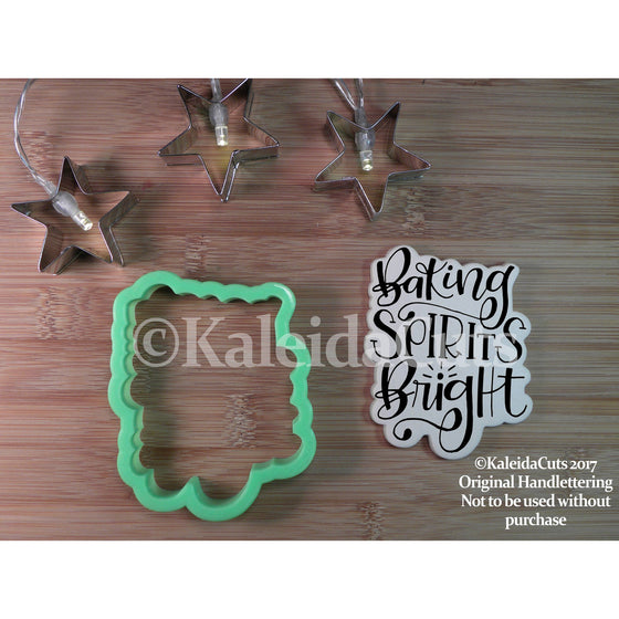 Baking Spirits Bright Lettering Cookie Cutter
