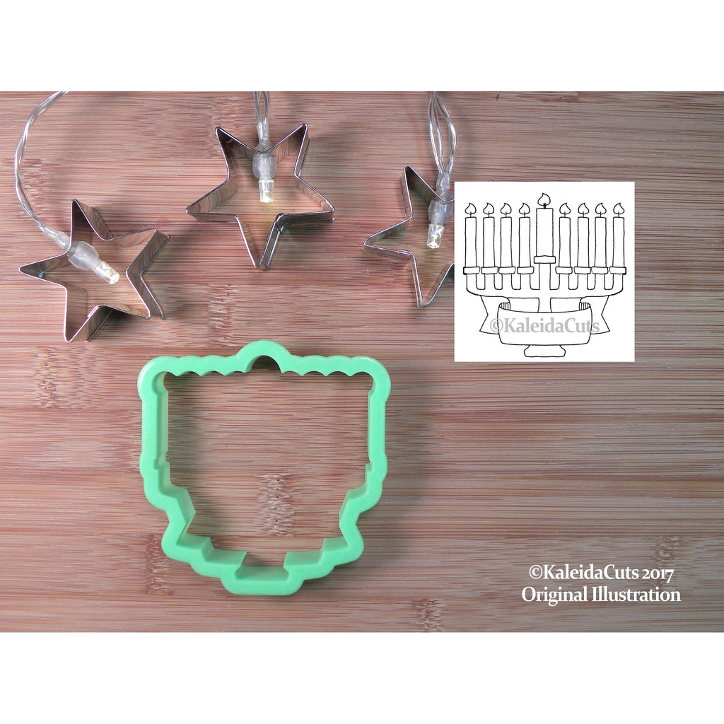 Menorah Banner Cookie Cutter