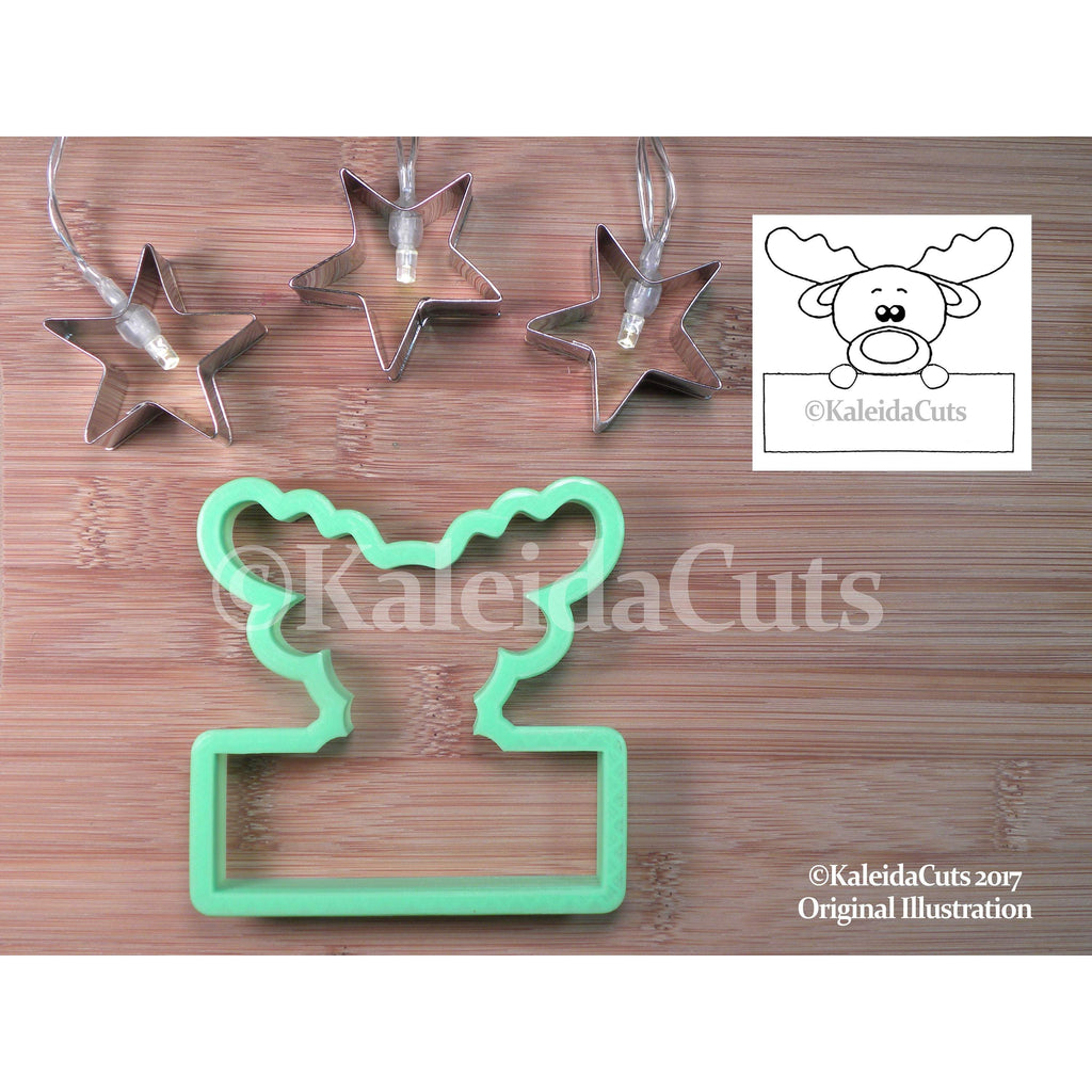 Reindeer Plaque  Cookie Cutter