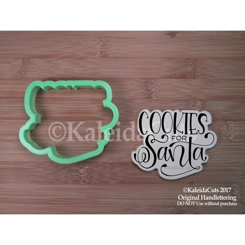 Cookies for Santa Lettering Cookie Cutter
