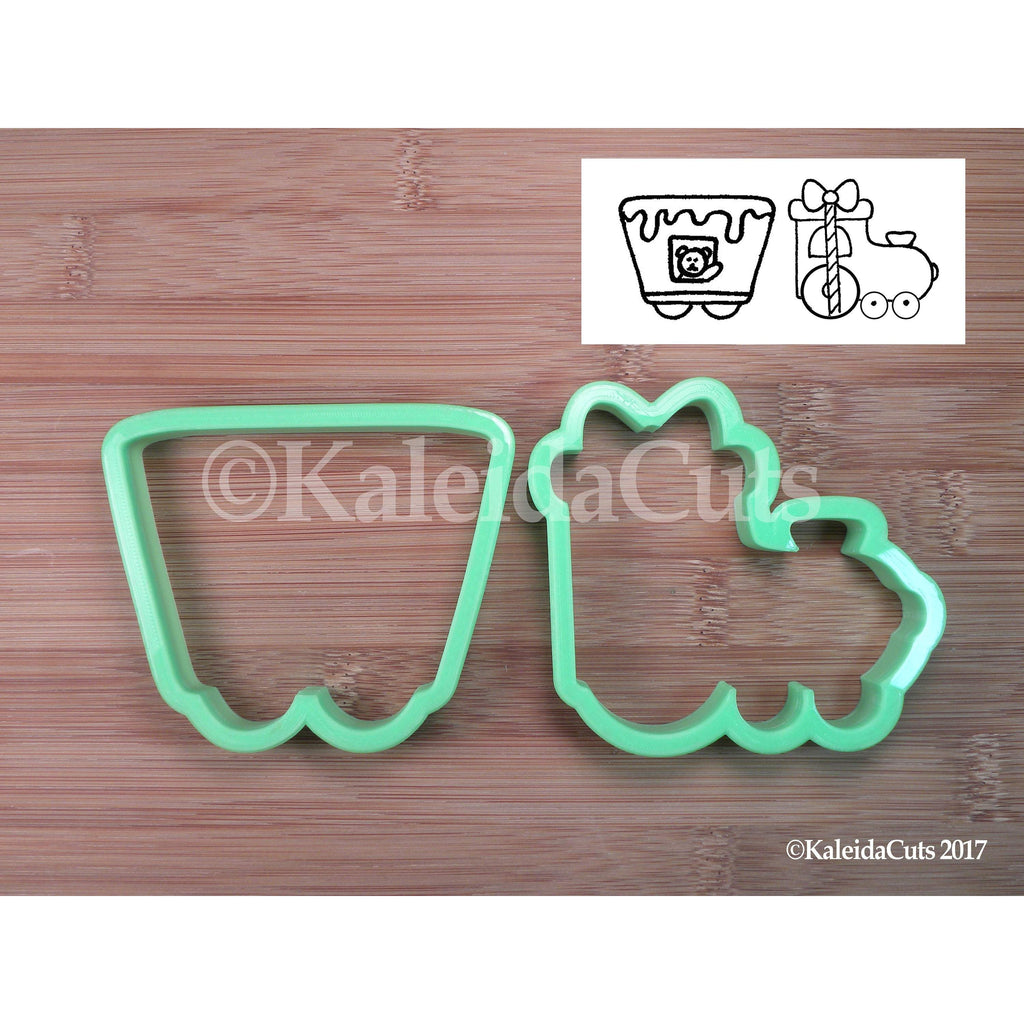 Train Engine  and Cart Cookie Cutter