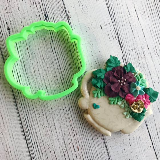 Floral Teapot Cookie Cutter