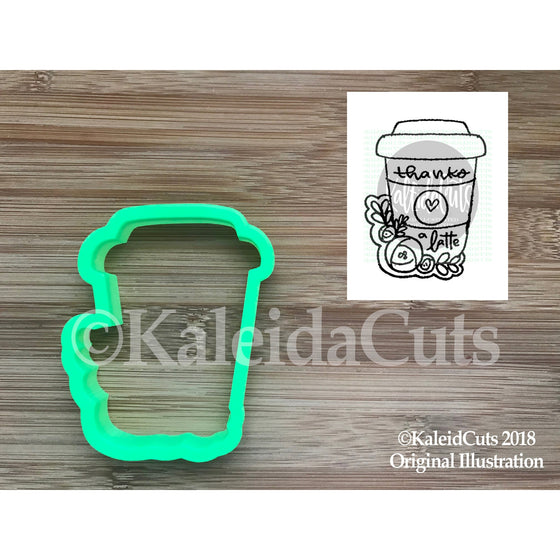 Floral Latte Cookie Cutter