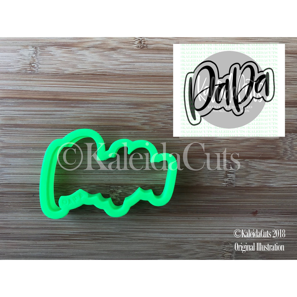 Papa Lettering Cookie Cutter