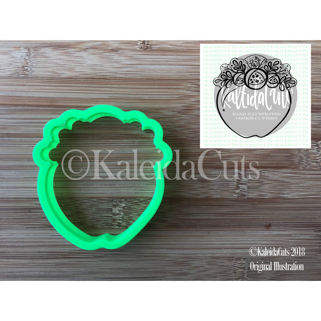 Floral Apple 2 Cookie Cutter