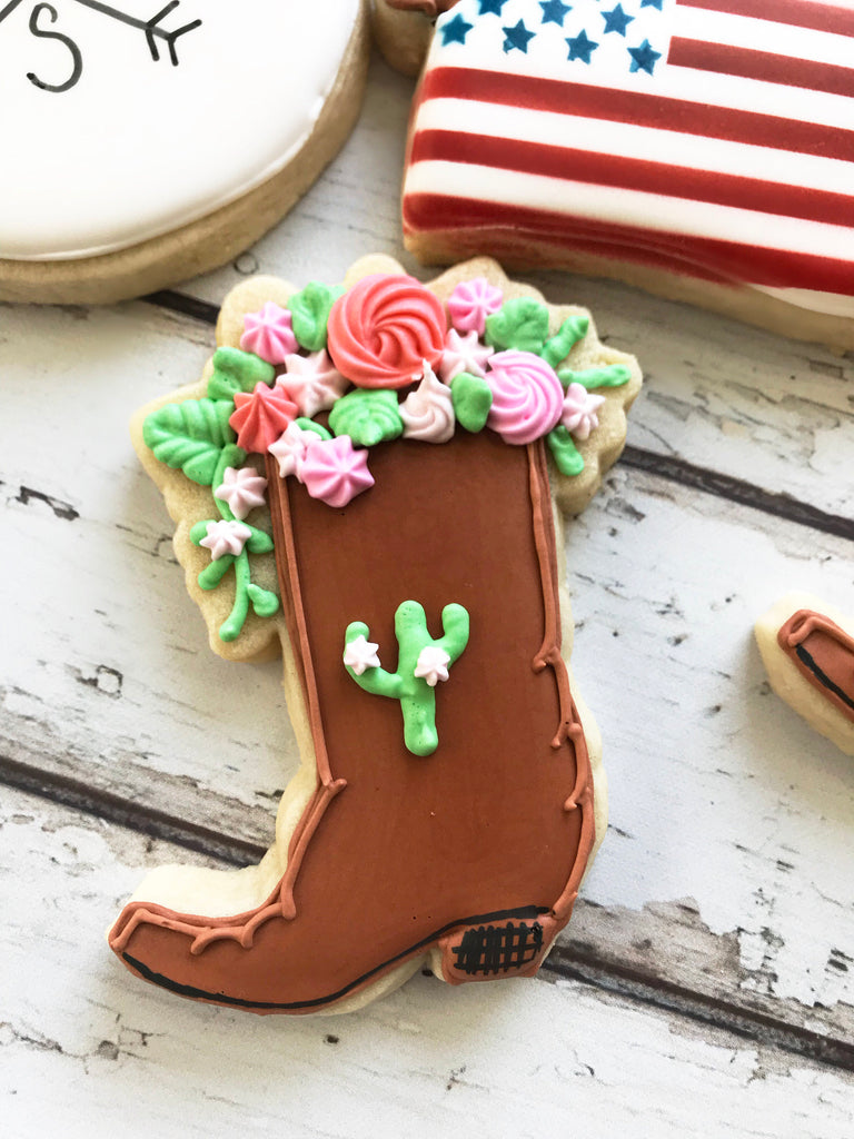 Floral Boot Cookie Cutter