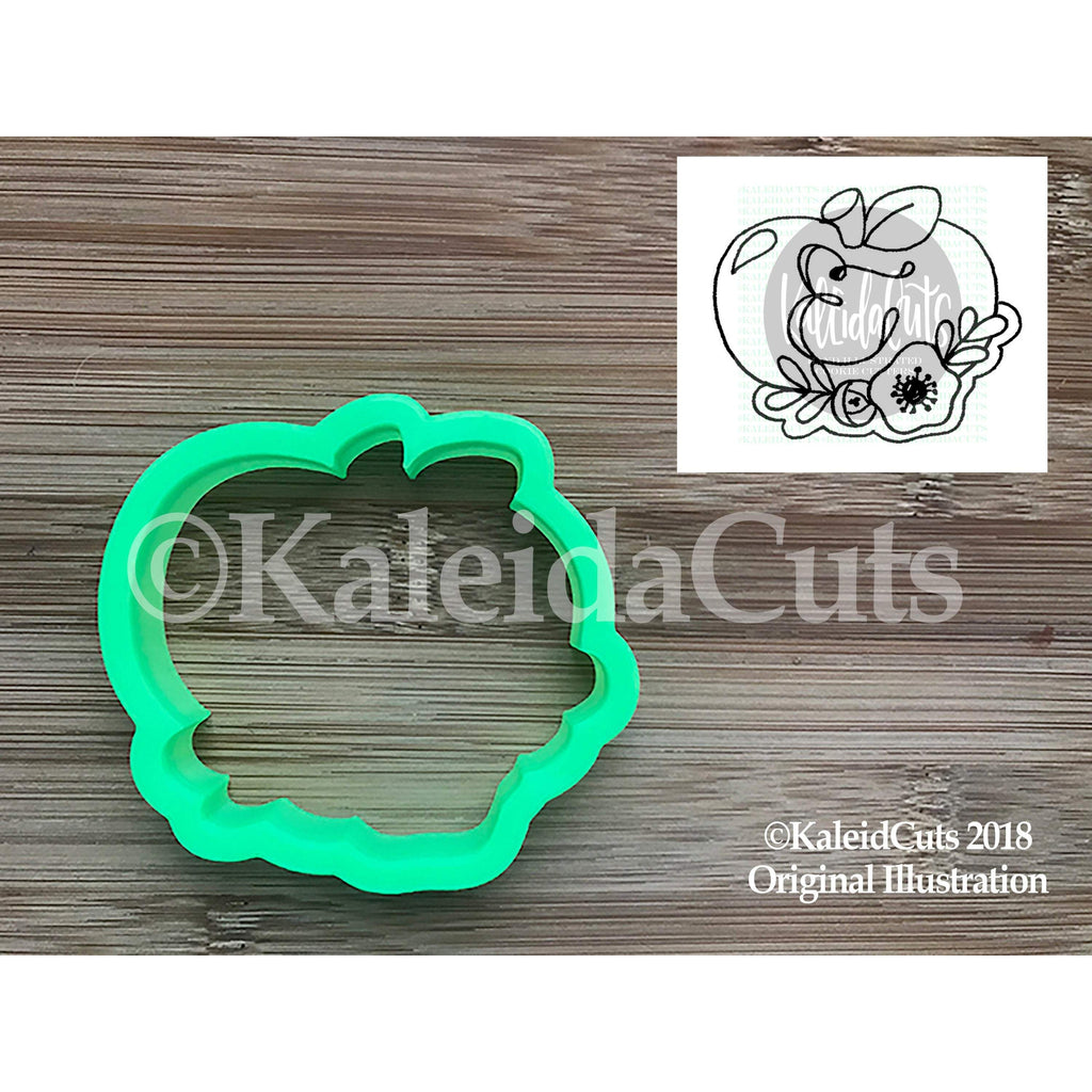 Floral Apple Cookie Cutter