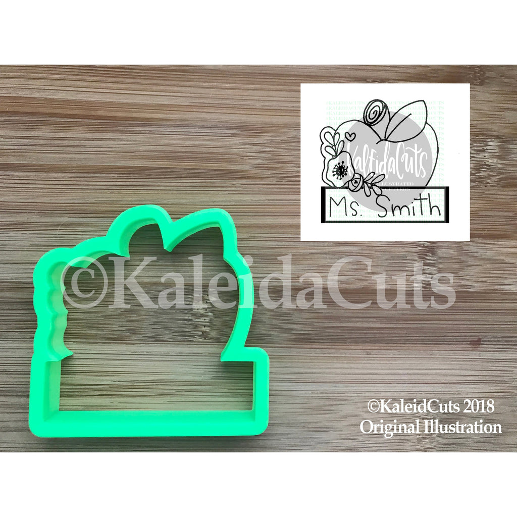 Floral Apple Plaque Cookie Cutter