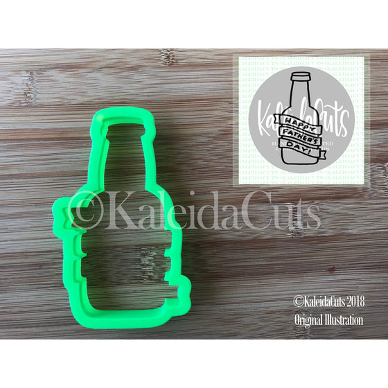 Beer Bottle Banner Cookie Cutter