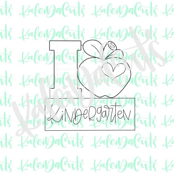 Apple Heart Plaque Cookie Cutter