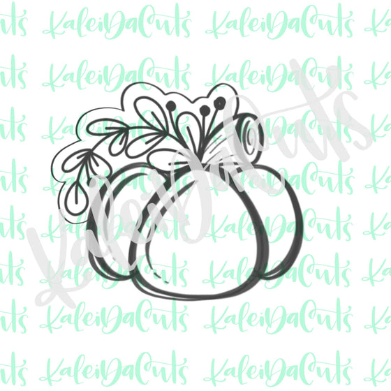 Floral Pumpkin 2 Cookie Cutter