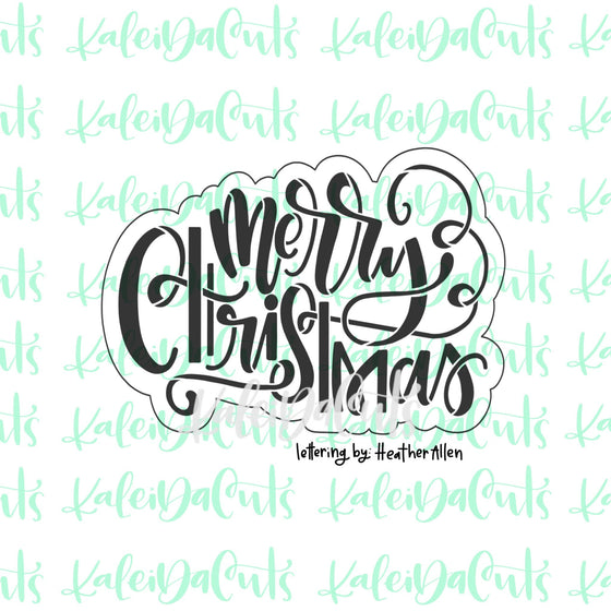 Merry Christmas 2 Lettering Cookie Cutter