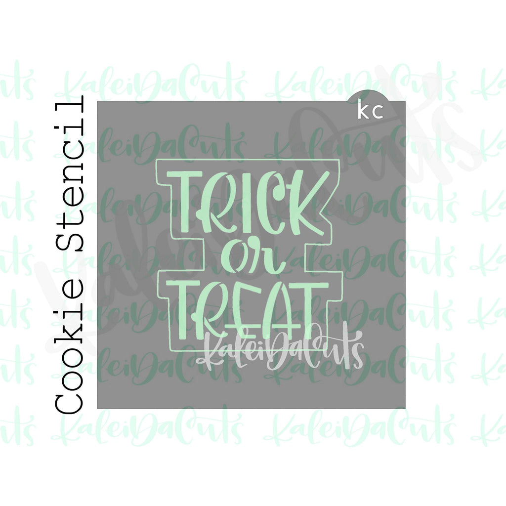 "Trick or Treat Stencil (4"" design)"
