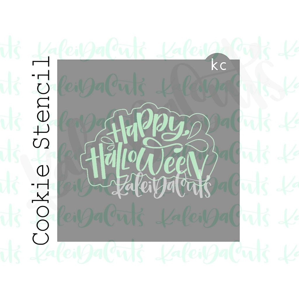"Happy Halloween Stencil (4"" design)"