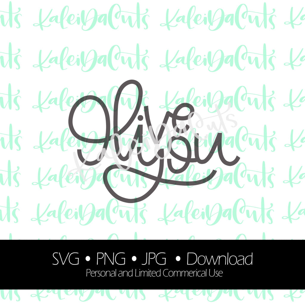 Olive You Lettering. SVG. Personal and Limited Commercial Use. KaleidaCuts Handlettering.
