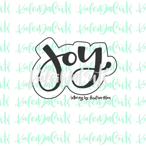 Joy Lettering Cookie Cutter