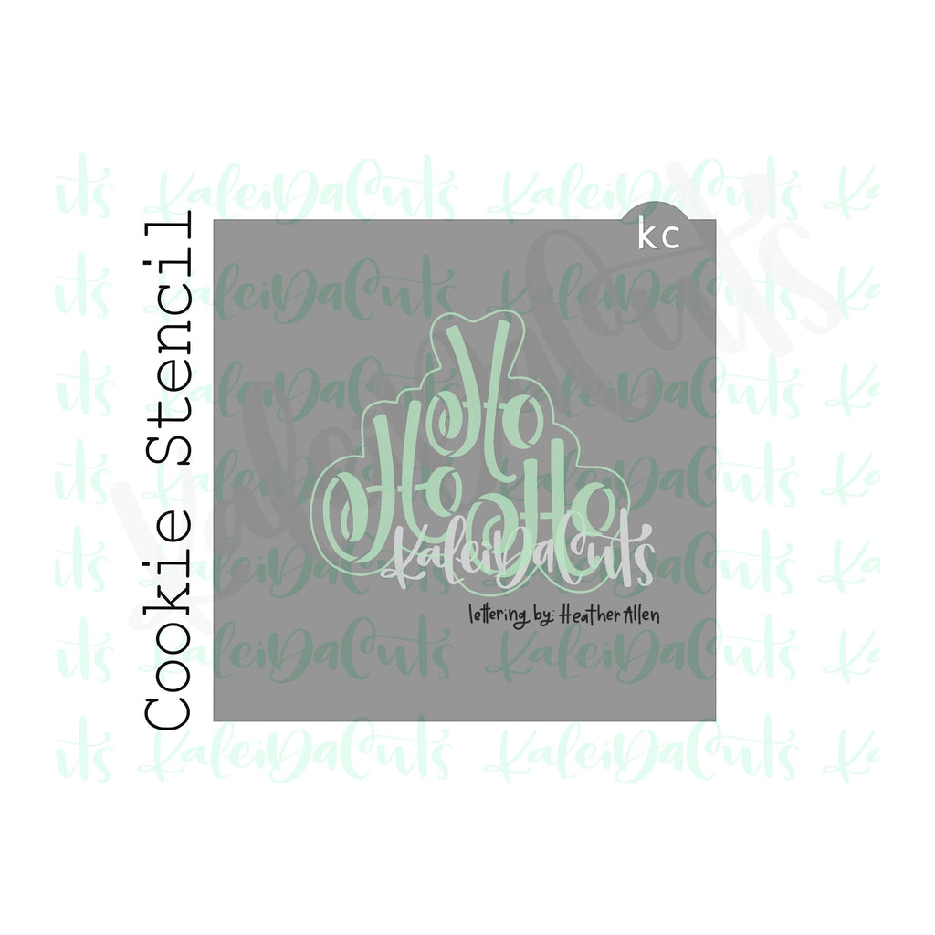 "HoHo 1 Lettering Cookie Stencil (matches 4"" cookie cutter)"