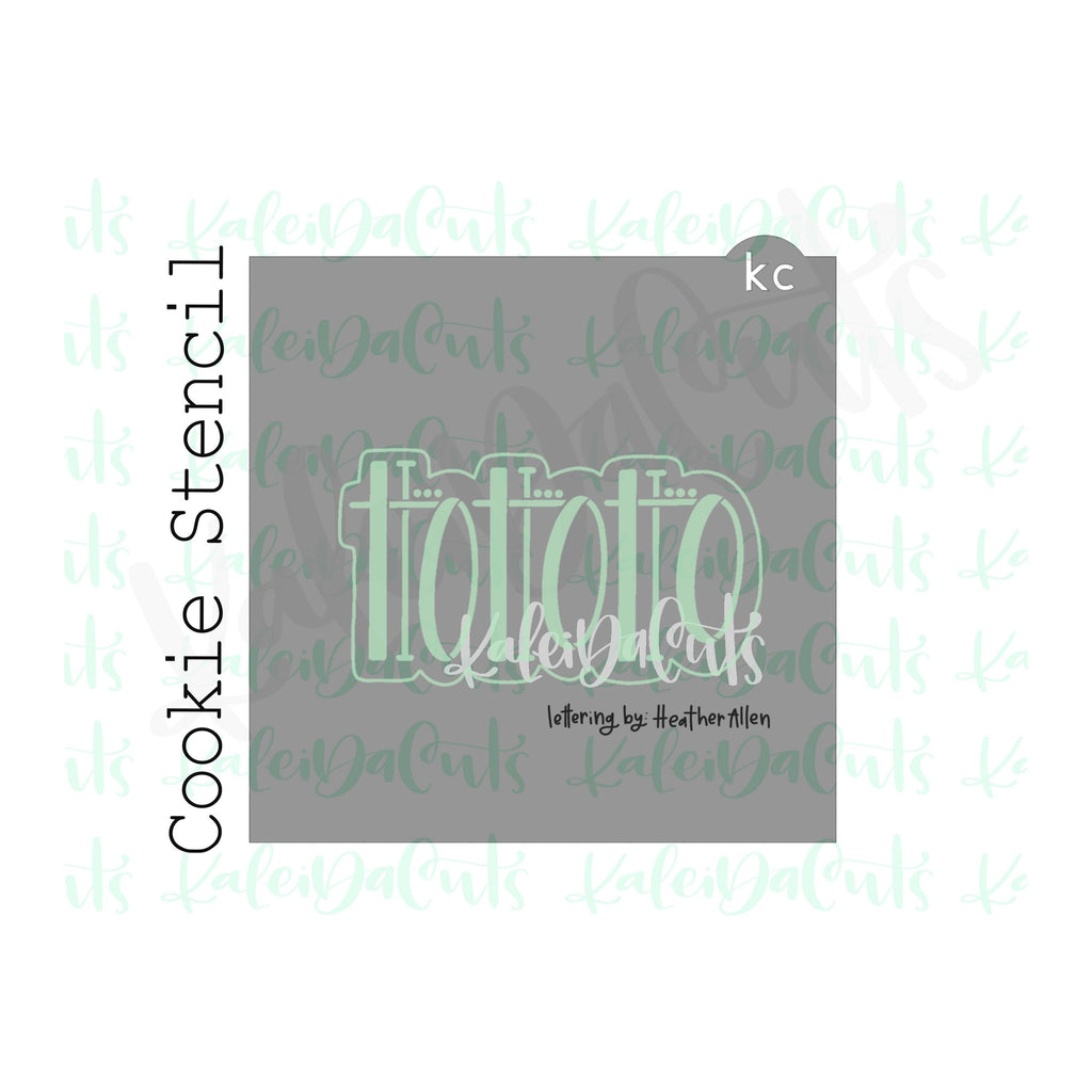 "HoHo 2 Lettering Cookie Stencil (matches 4"" cookie cutter)"