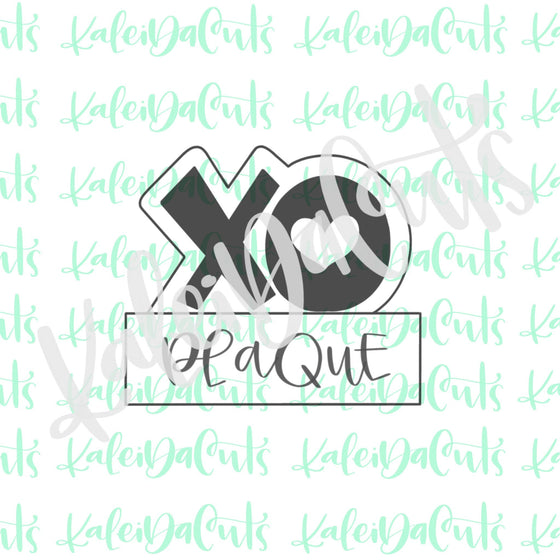 XO Plaque Cookie Cutter - Cadie's Cookies Kaleidalab