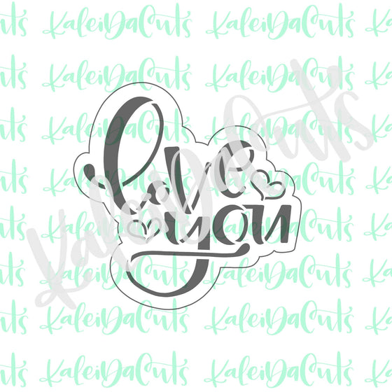 Love You Lettering Cookie Cutter