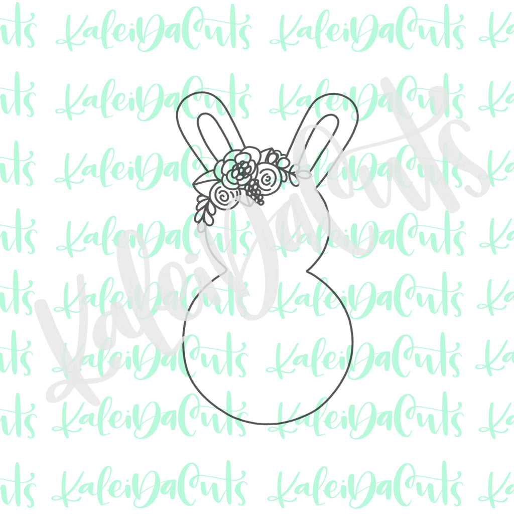 Dainty Floral Bunny Cookie Cutter
